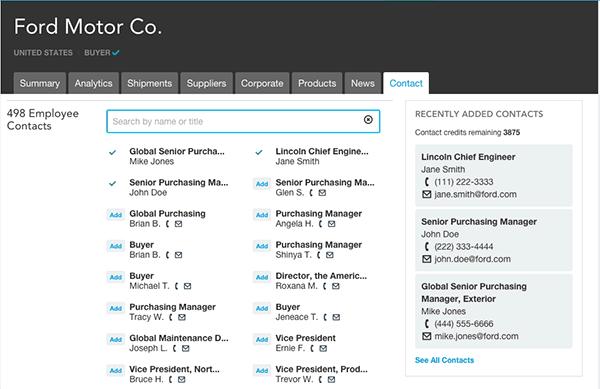 可在美国采购商企业页面中查看到联系方式